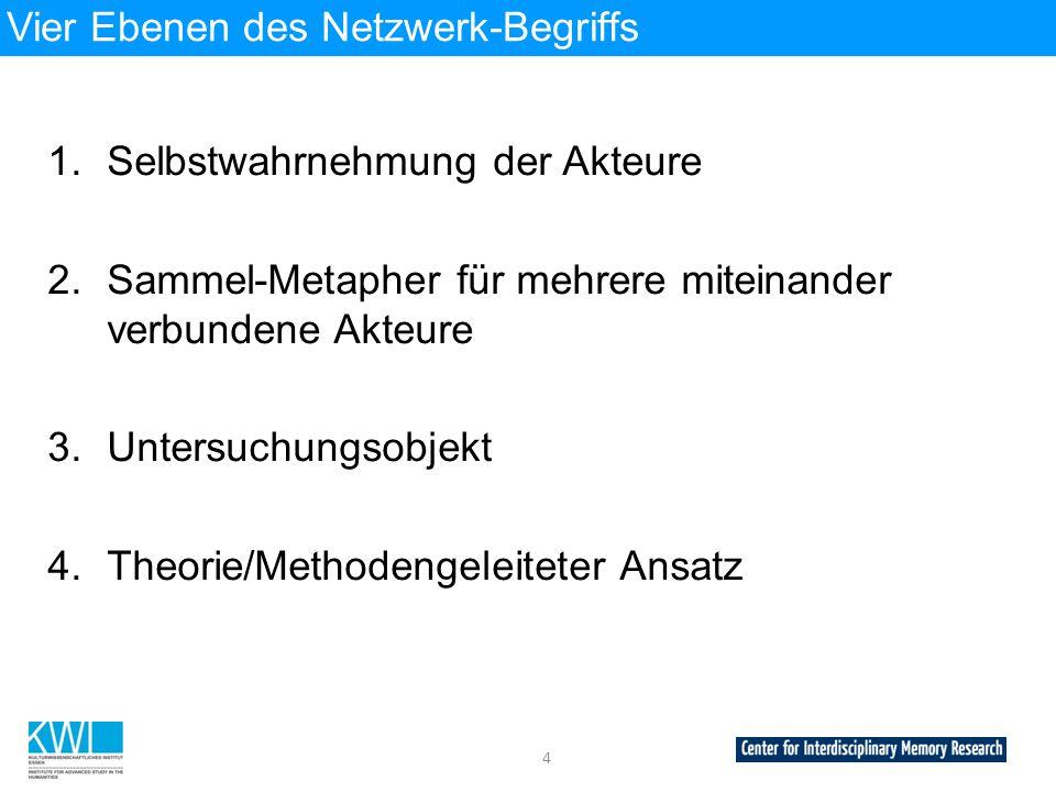 Vier Ebenen des Netzwerk-Begriffs