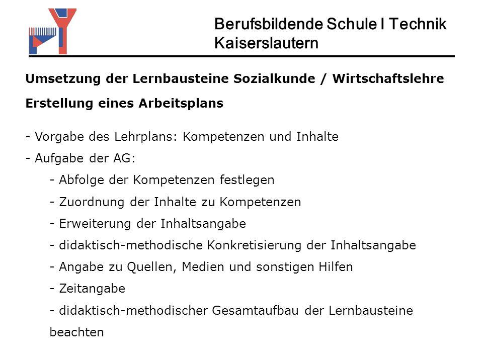 Berufsbildende Schule I Technik Kaiserslautern