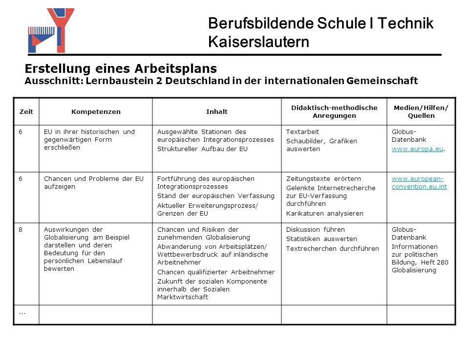 Didaktisch-methodische Anregungen Medien/Hilfen/Quellen
