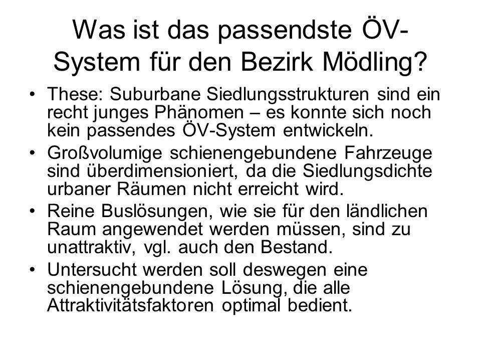 Was ist das passendste ÖV-System für den Bezirk Mödling
