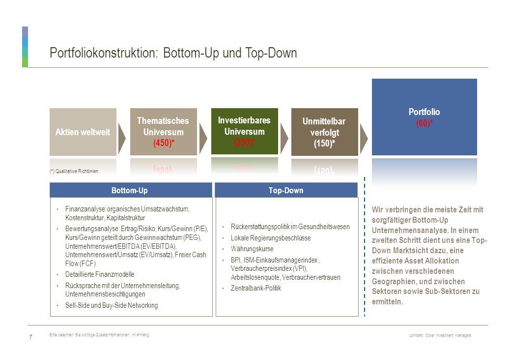 Portfoliokonstruktion: Bottom-Up und Top-Down