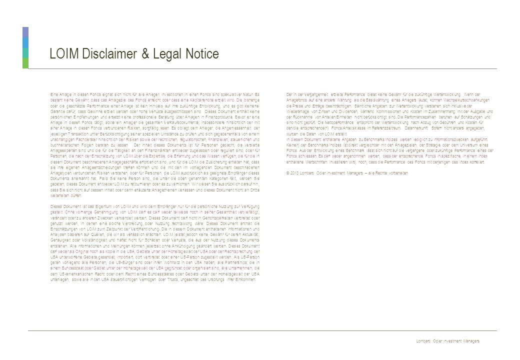 LOIM Disclaimer & Legal Notice