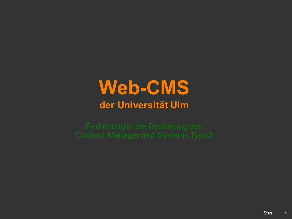 Einführung in die Bedienung des Content-Management-Systems Typo3