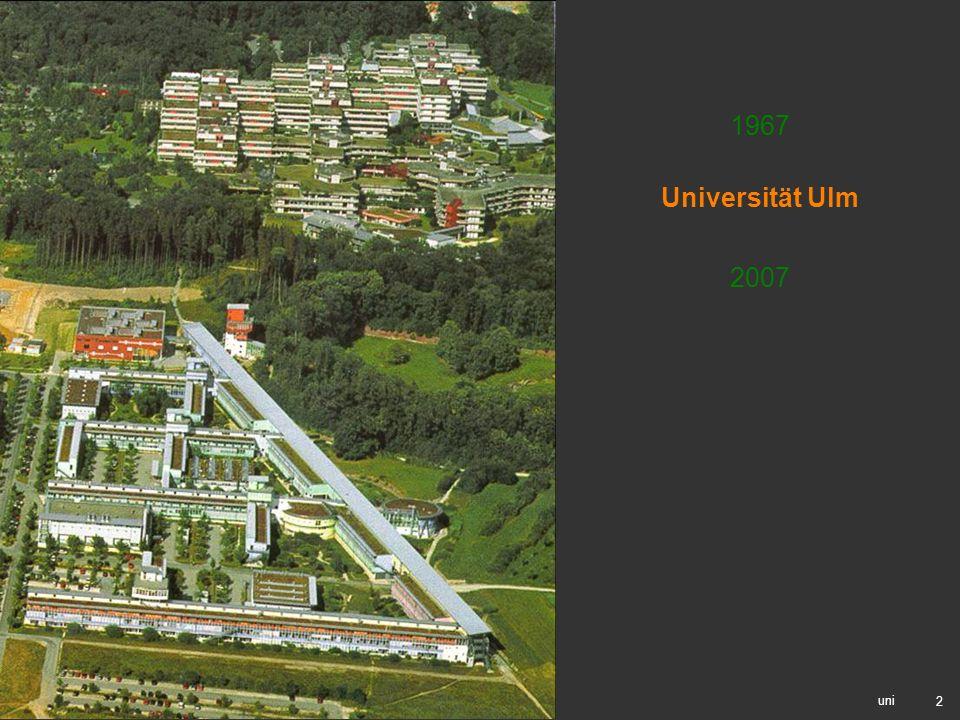 1967 Universität Ulm 2007 uni
