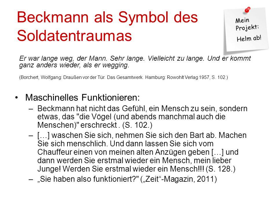 Beckmann als Symbol des Soldatentraumas