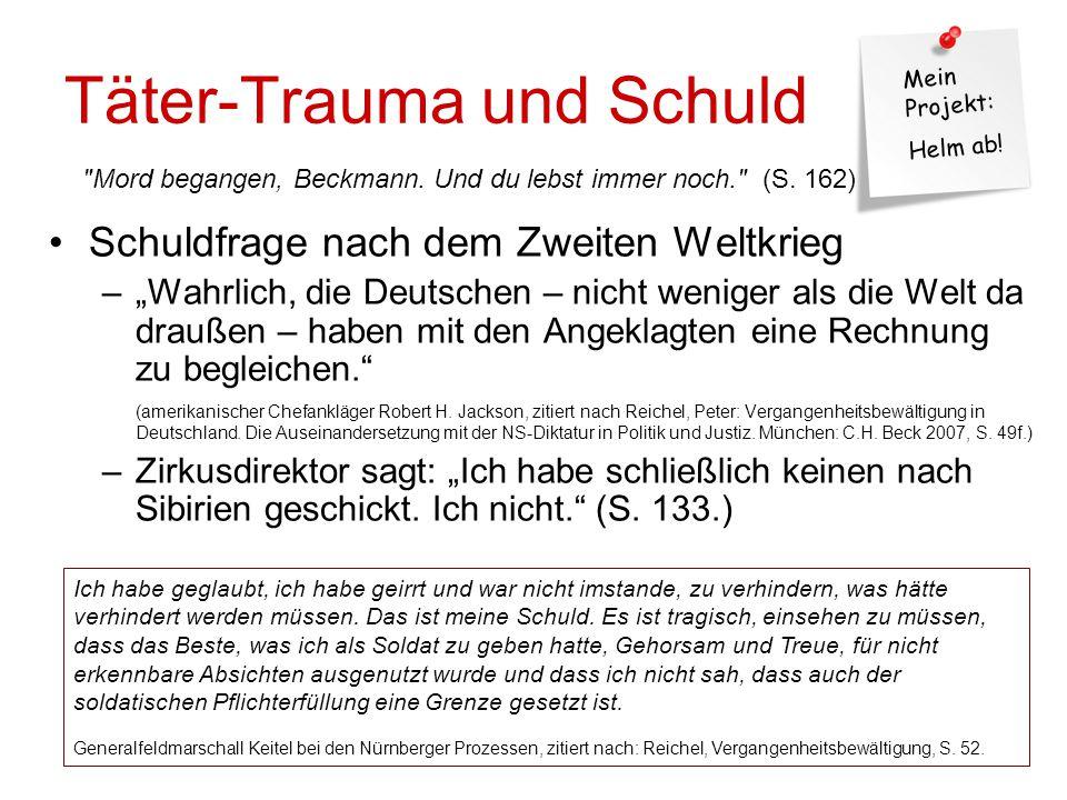 Täter-Trauma und Schuld