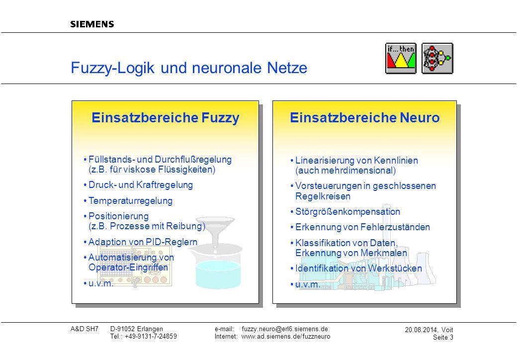 Einsatzbereiche Fuzzy Einsatzbereiche Neuro