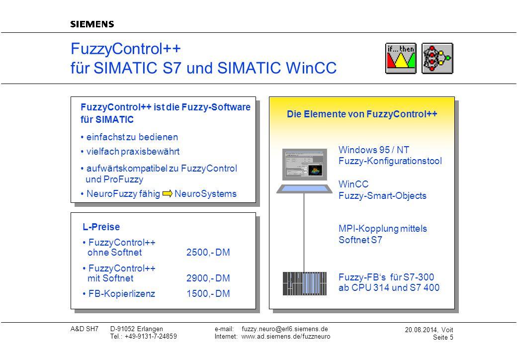 FuzzyControl++ für SIMATIC S7 und SIMATIC WinCC