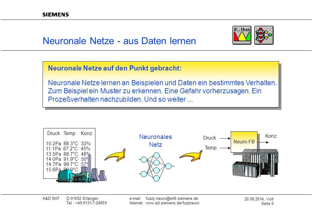 Neuronale Netze - aus Daten lernen