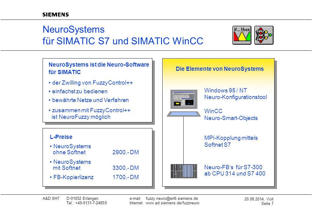 NeuroSystems für SIMATIC S7 und SIMATIC WinCC