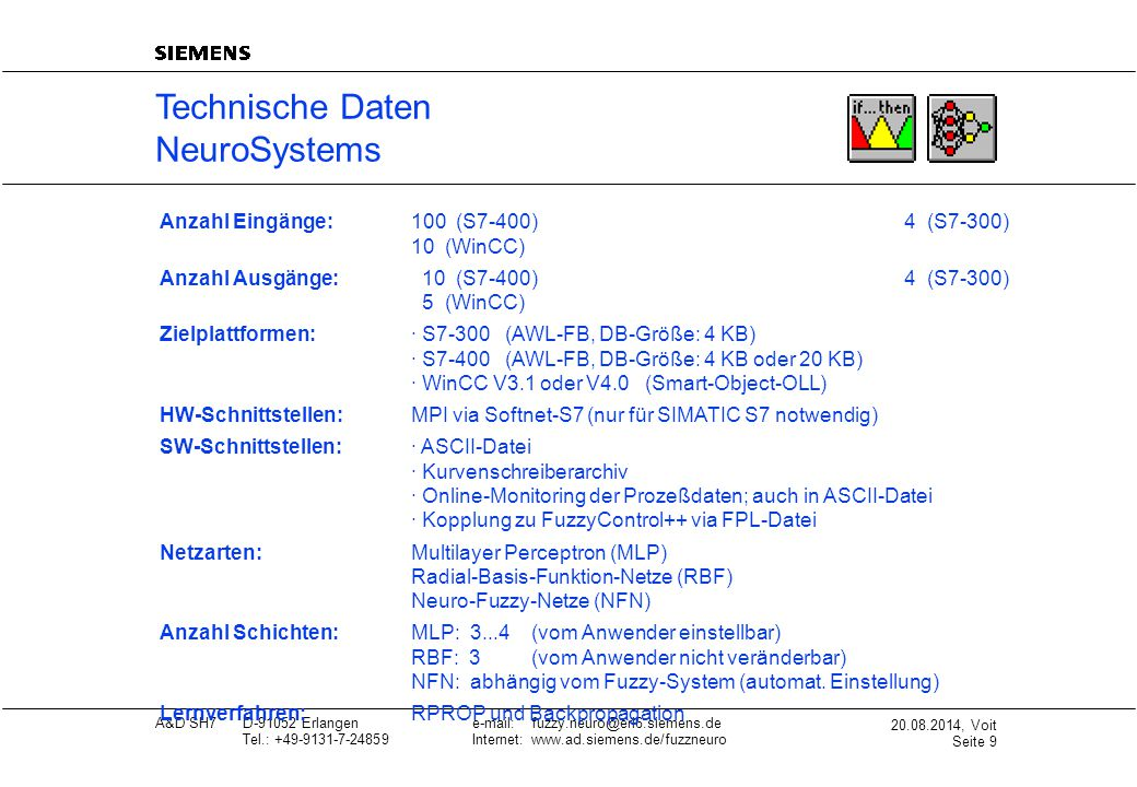 Technische Daten NeuroSystems