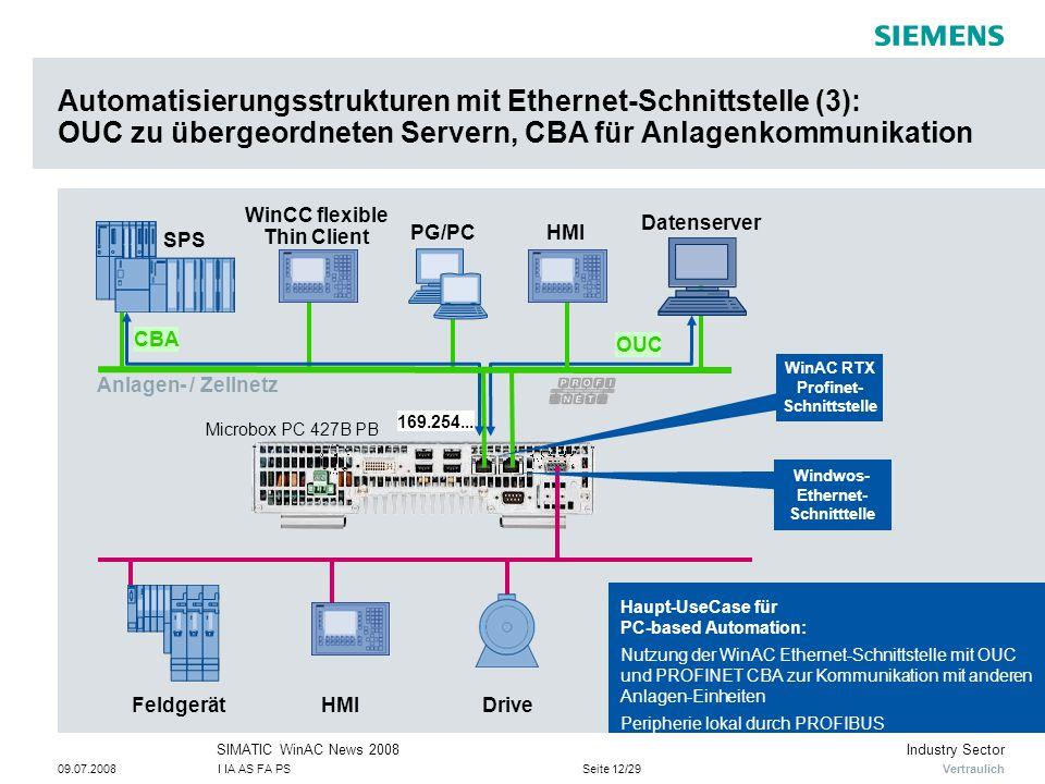 Automatisierungsstrukturen mit Ethernet-Schnittstelle (3): OUC zu übergeordneten Servern, CBA für Anlagenkommunikation