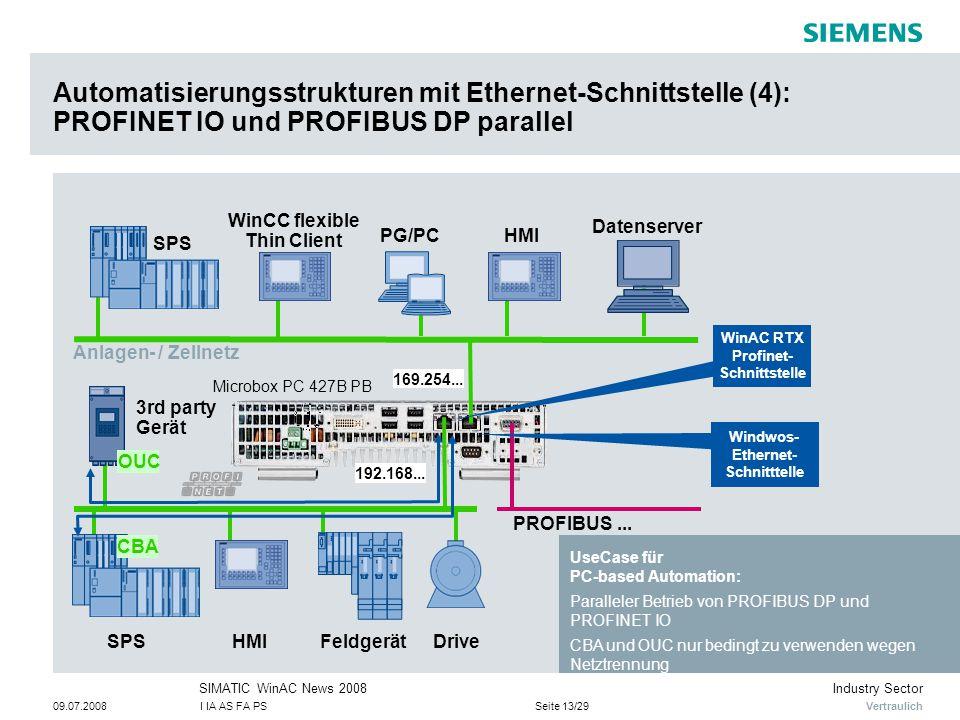 Automatisierungsstrukturen mit Ethernet-Schnittstelle (4): PROFINET IO und PROFIBUS DP parallel