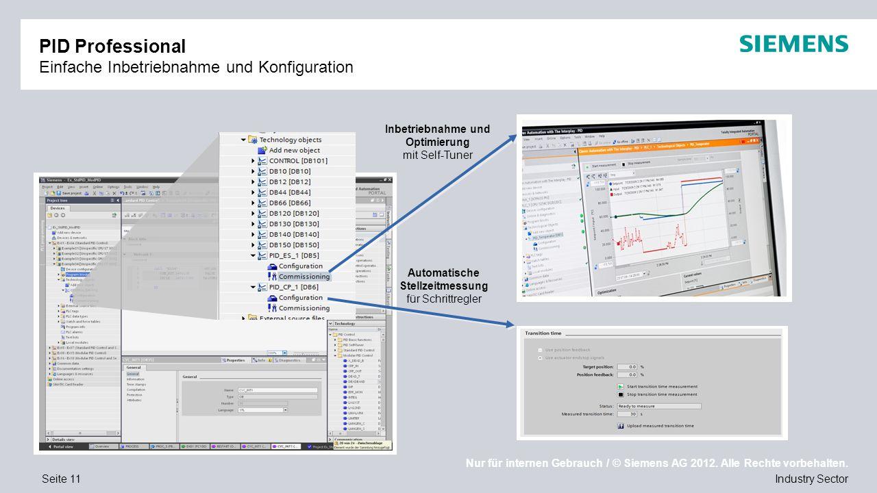 PID Professional Einfache Inbetriebnahme und Konfiguration