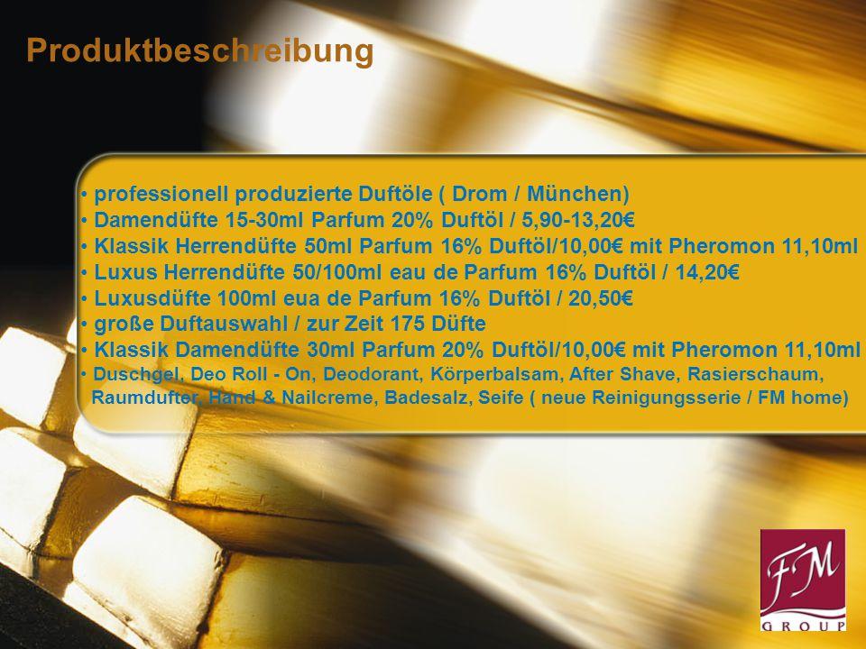 Produktbeschreibung professionell produzierte Duftöle ( Drom / München) Damendüfte 15-30ml Parfum 20% Duftöl / 5,90-13,20€