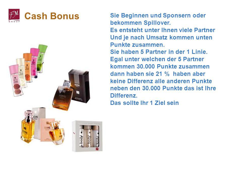 Cash Bonus Sie Beginnen und Sponsern oder bekommen Spillover.