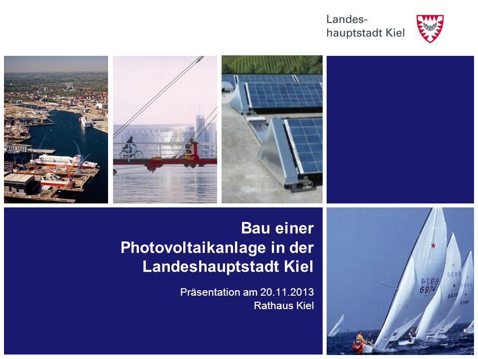 Bau einer Photovoltaikanlage in der Landeshauptstadt Kiel
