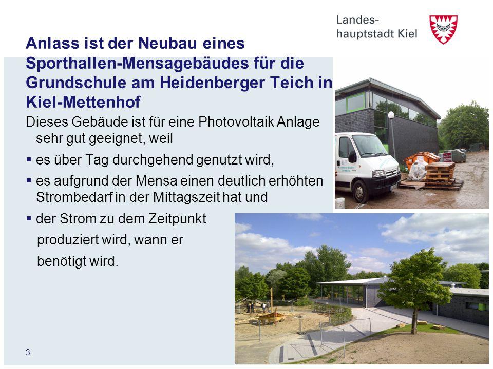 Anlass ist der Neubau eines Sporthallen-Mensagebäudes für die Grundschule am Heidenberger Teich in Kiel-Mettenhof