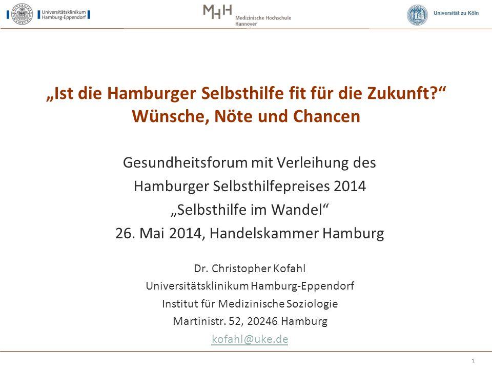 """""""Ist die Hamburger Selbsthilfe fit für die Zukunft"""