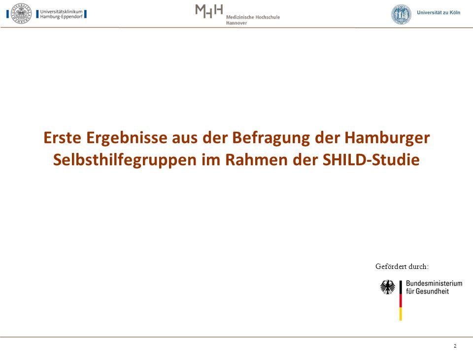 Erste Ergebnisse aus der Befragung der Hamburger Selbsthilfegruppen im Rahmen der SHILD-Studie
