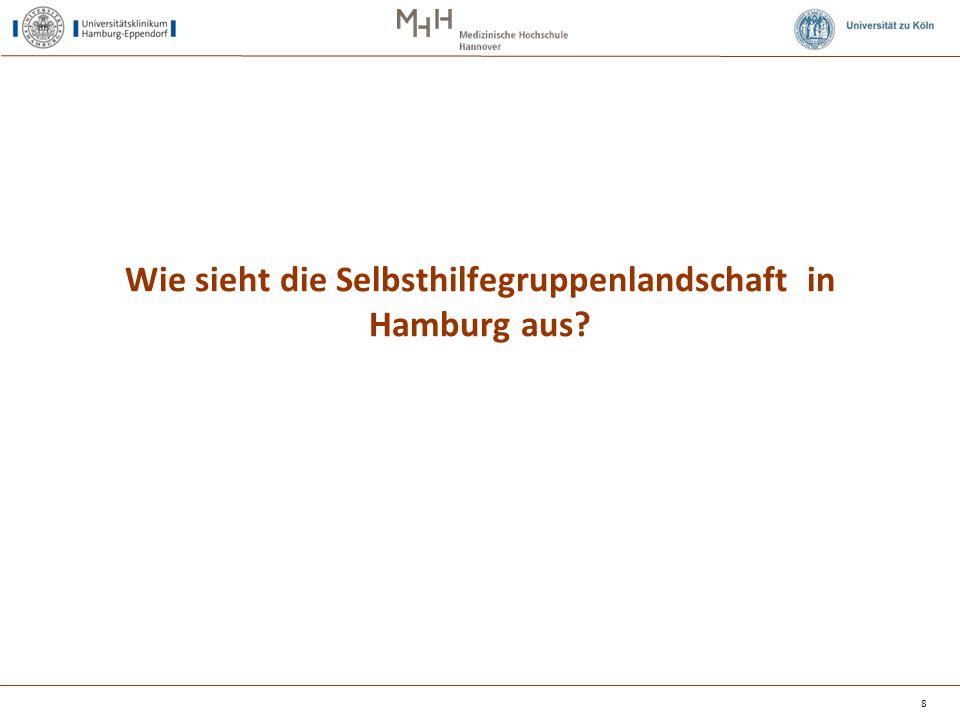 Wie sieht die Selbsthilfegruppenlandschaft in Hamburg aus