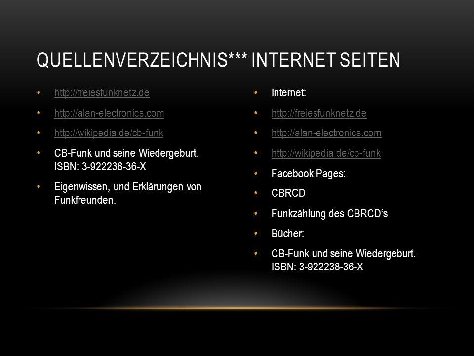 Quellenverzeichnis*** Internet Seiten