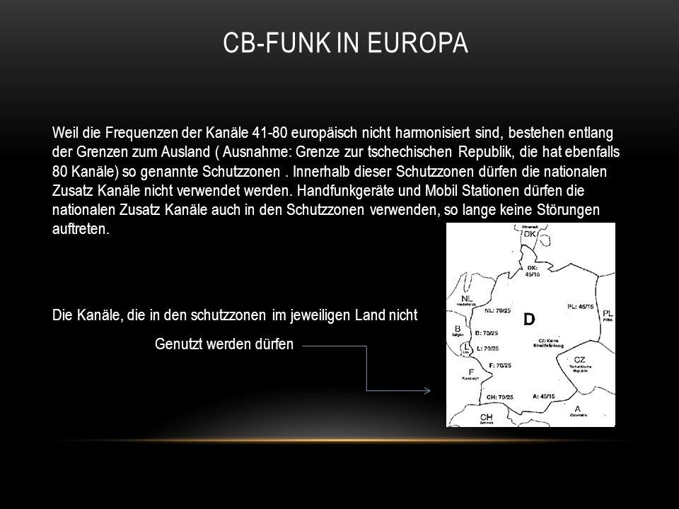 CB-FUNK IN Europa