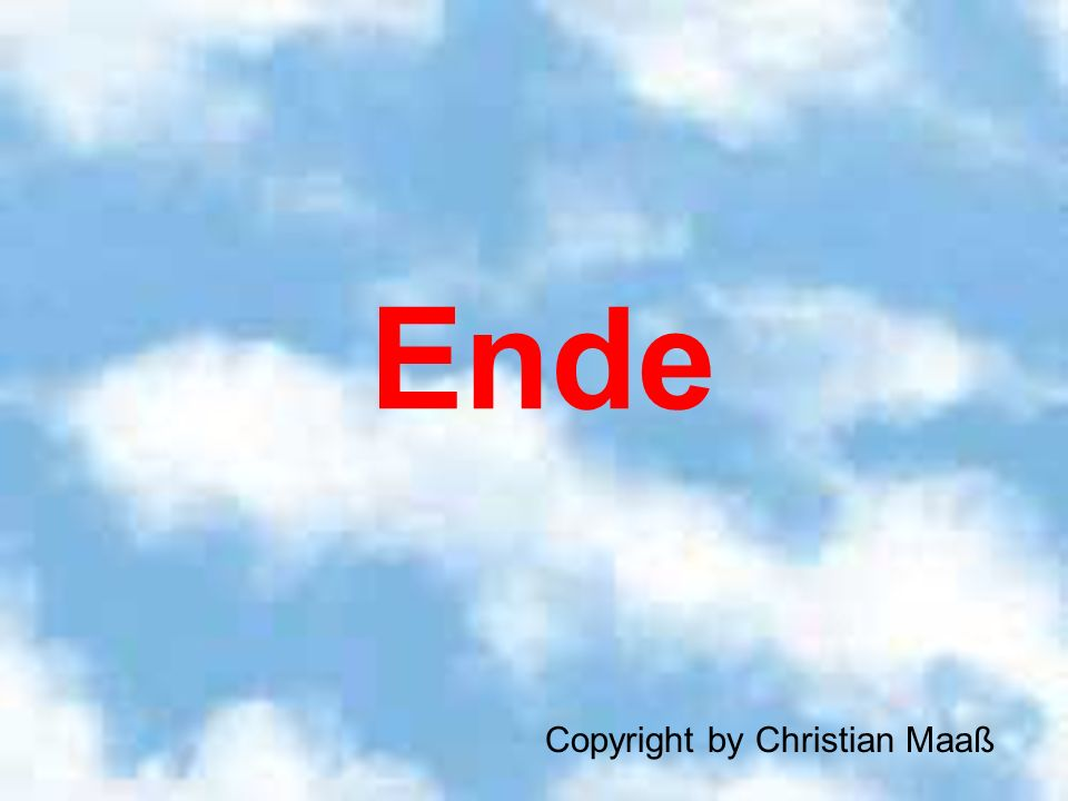 Ende Copyright by Christian Maaß