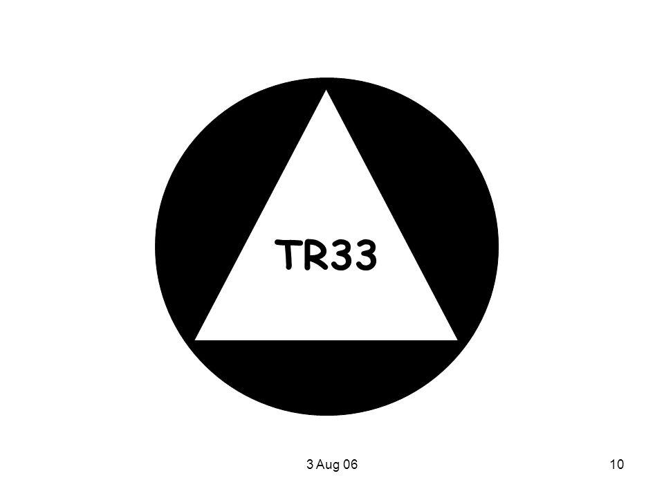 TR33 3 Aug 06