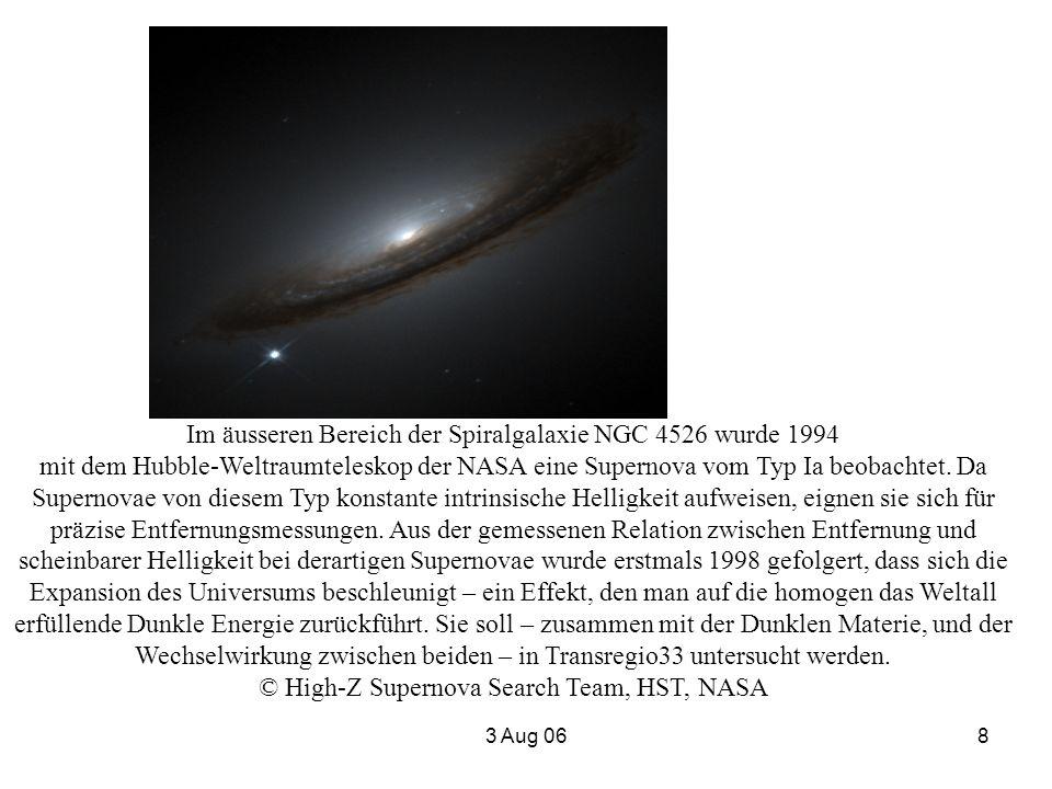 Im äusseren Bereich der Spiralgalaxie NGC 4526 wurde 1994