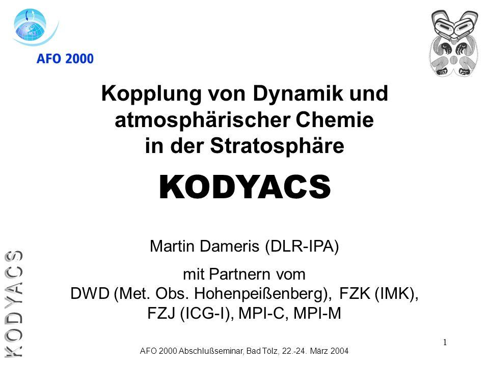 Kopplung von Dynamik und atmosphärischer Chemie