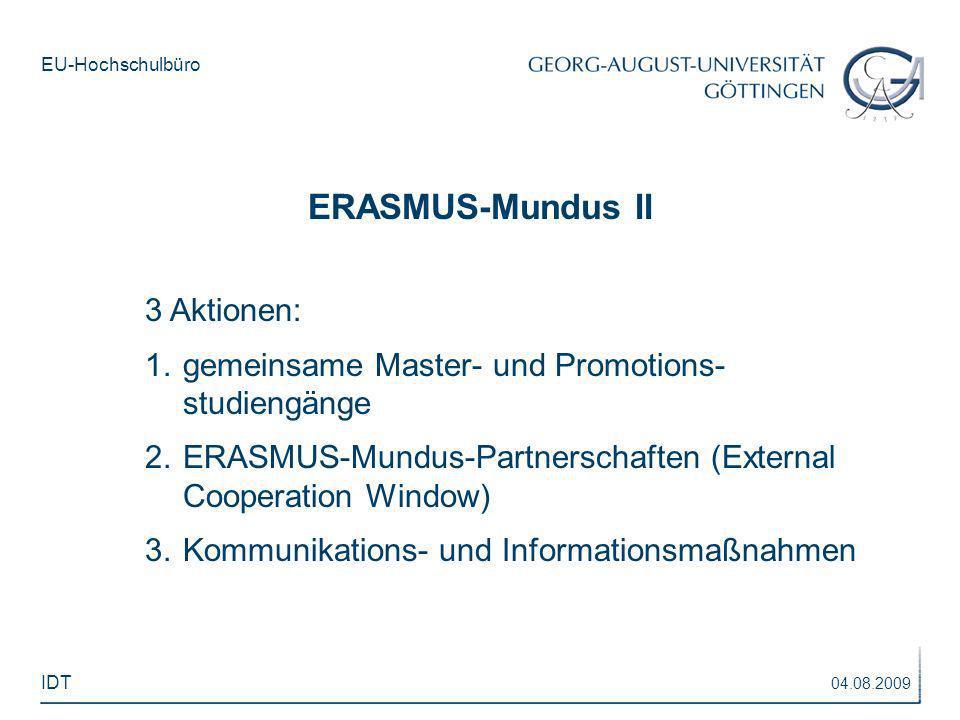 ERASMUS-Mundus II 3 Aktionen: