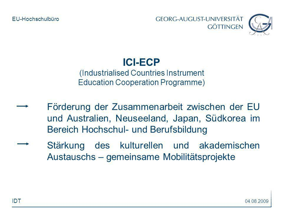 ICI-ECP (Industrialised Countries Instrument. Education Cooperation Programme)