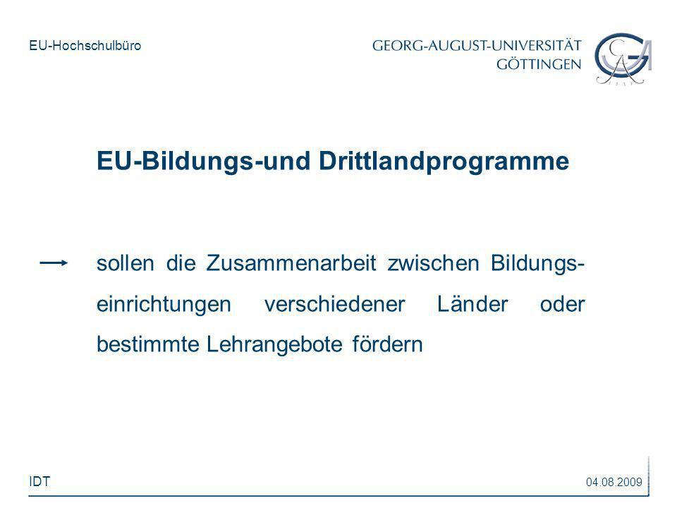 EU-Bildungs-und Drittlandprogramme