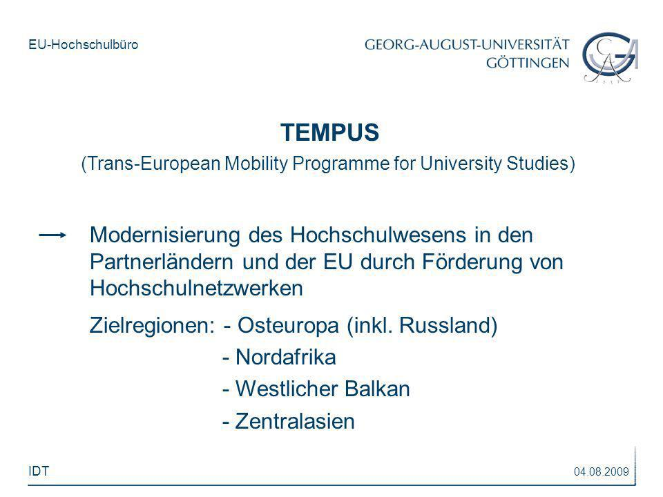 TEMPUS(Trans-European Mobility Programme for University Studies)