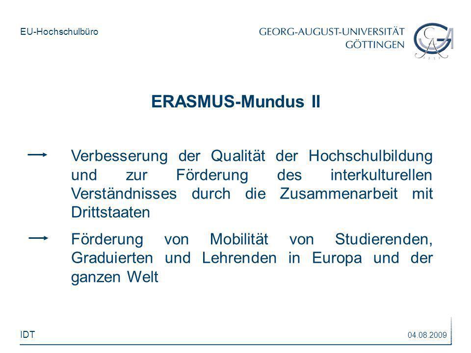 ERASMUS-Mundus II