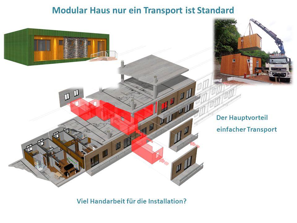Modular Haus nur ein Transport ist Standard
