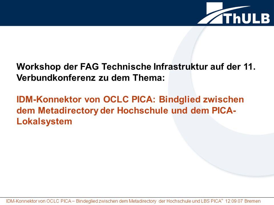 Workshop der FAG Technische Infrastruktur auf der 11