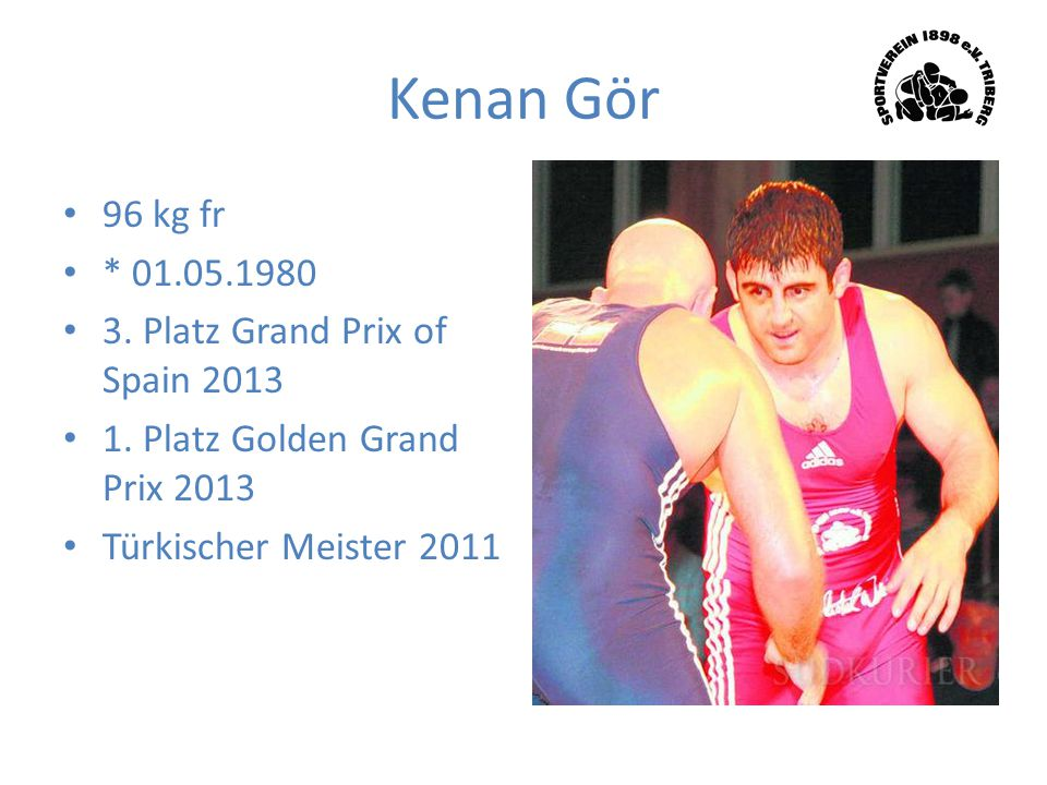 Kenan Gör 96 kg fr * 01.05.1980 3. Platz Grand Prix of Spain 2013