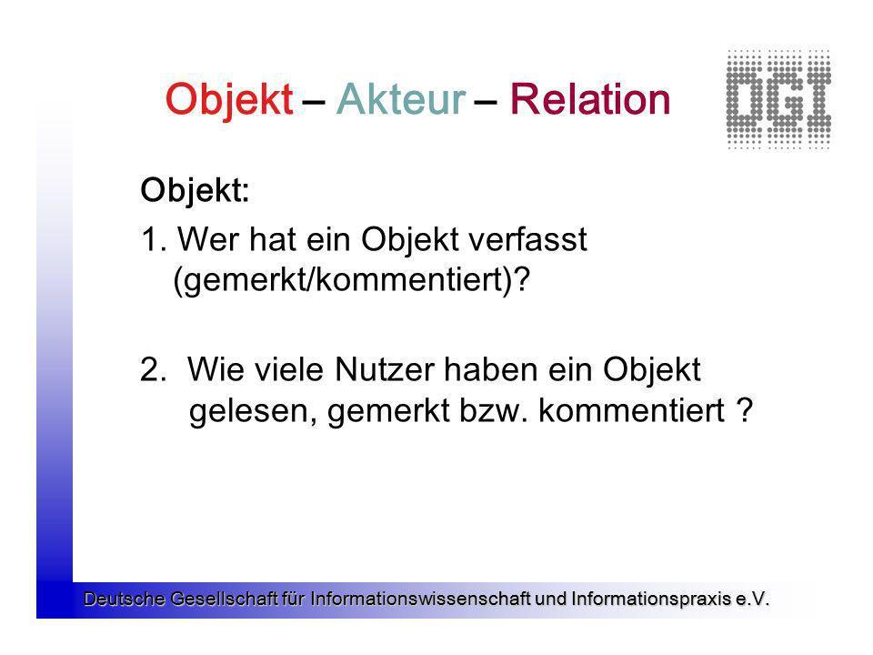 Objekt – Akteur – Relation