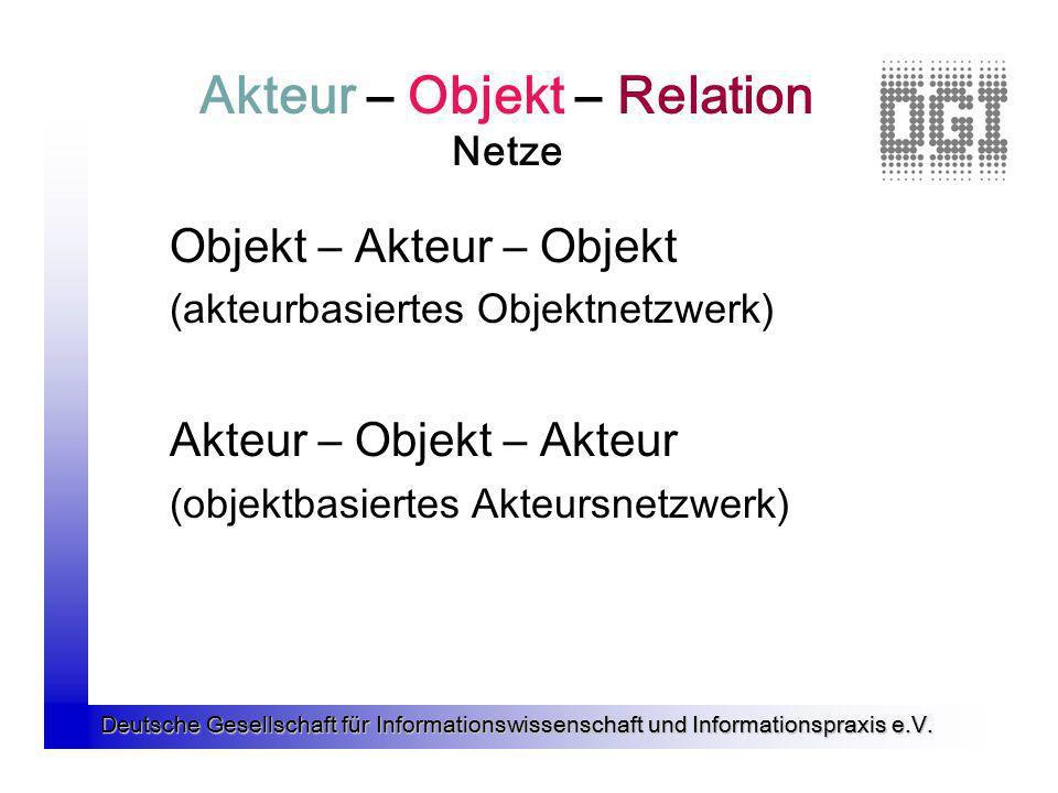 Akteur – Objekt – Relation Netze