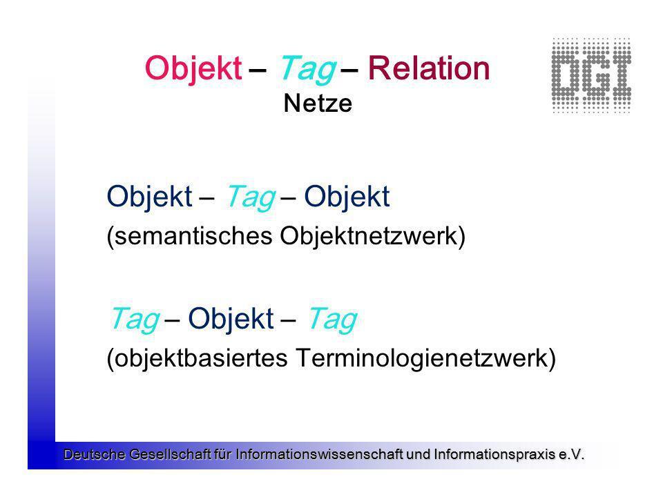 Objekt – Tag – Relation Netze