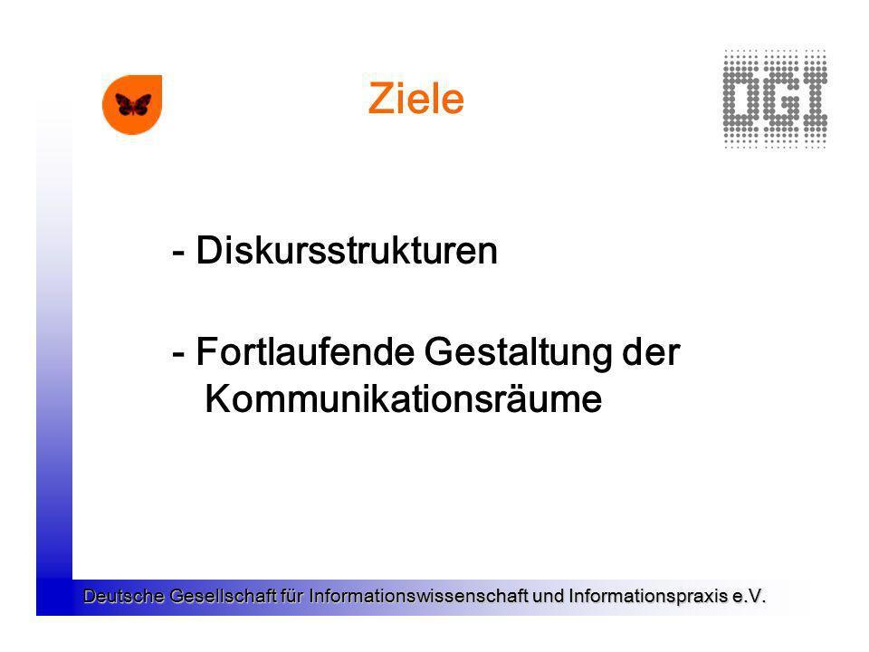 Ziele - Diskursstrukturen - Fortlaufende Gestaltung der Kommunikationsräume