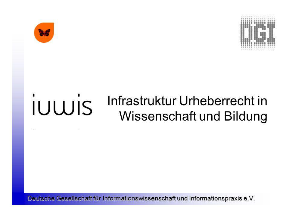 Infrastruktur Urheberrecht in Wissenschaft und Bildung