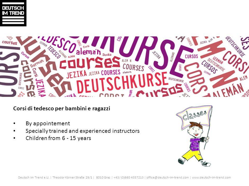 Corsi di tedesco per bambini e ragazzi By appointement