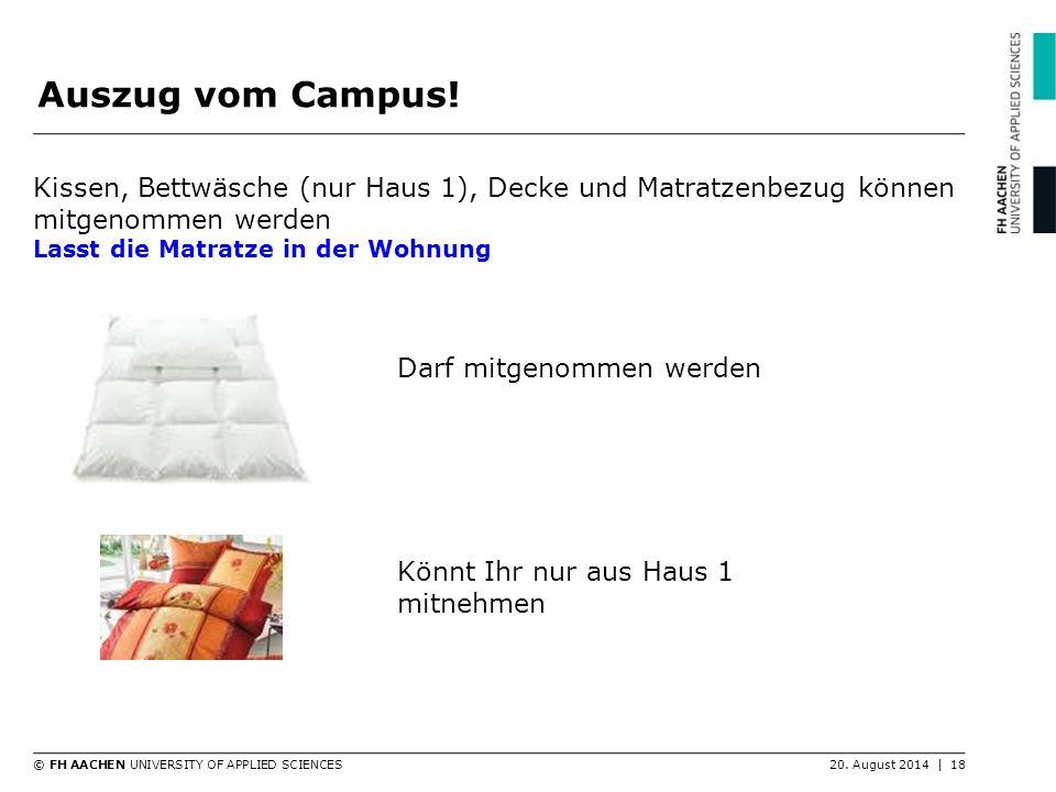 Auszug vom Campus! Kissen, Bettwäsche (nur Haus 1), Decke und Matratzenbezug können mitgenommen werden.