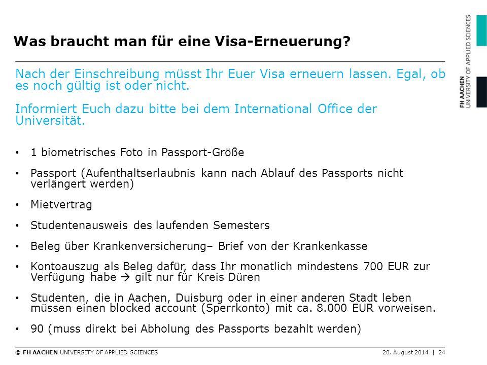 Was braucht man für eine Visa-Erneuerung