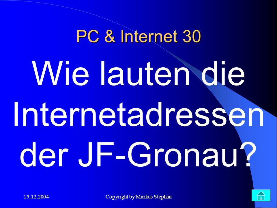 Wie lauten die Internetadressen der JF-Gronau