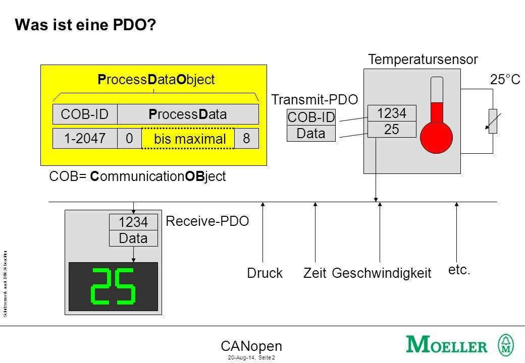 Was ist eine PDO CANopen Temperatursensor ProcessDataObject 25°C