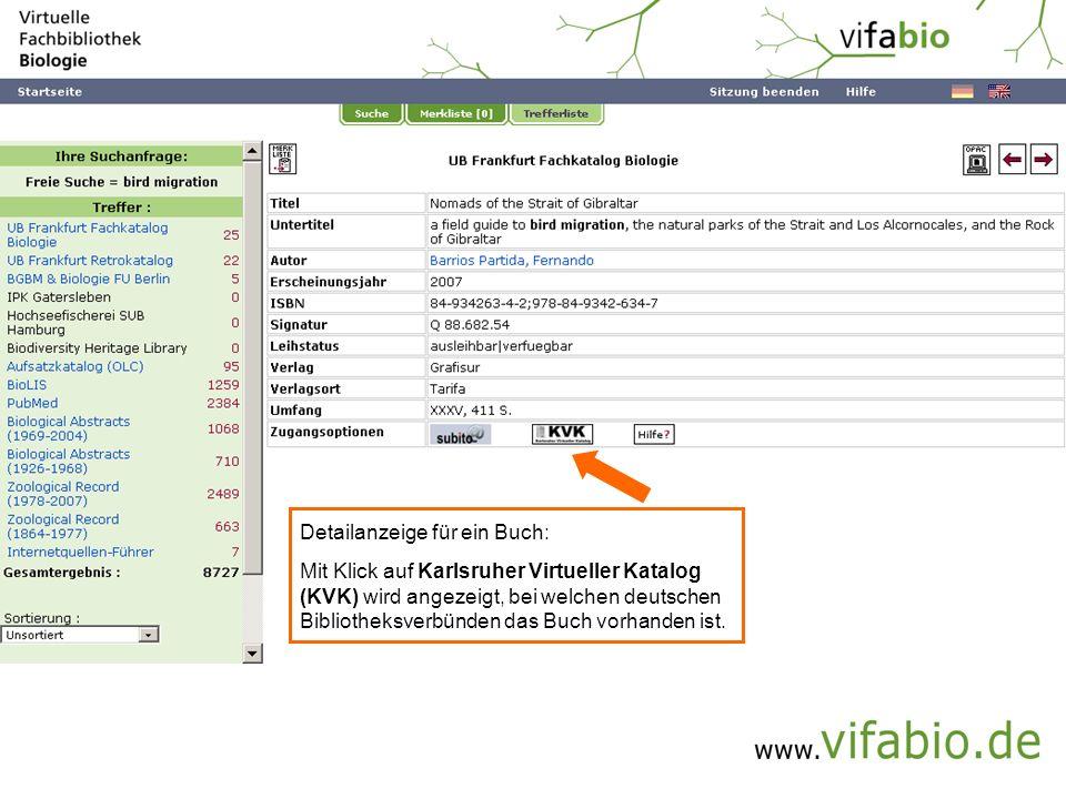 Einzeltreffer -> eMedium (Bildschirmfoto)